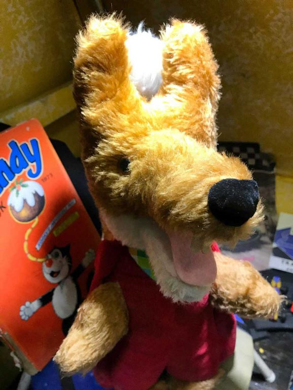 Basil Brush at Pollock's Toy Museum London