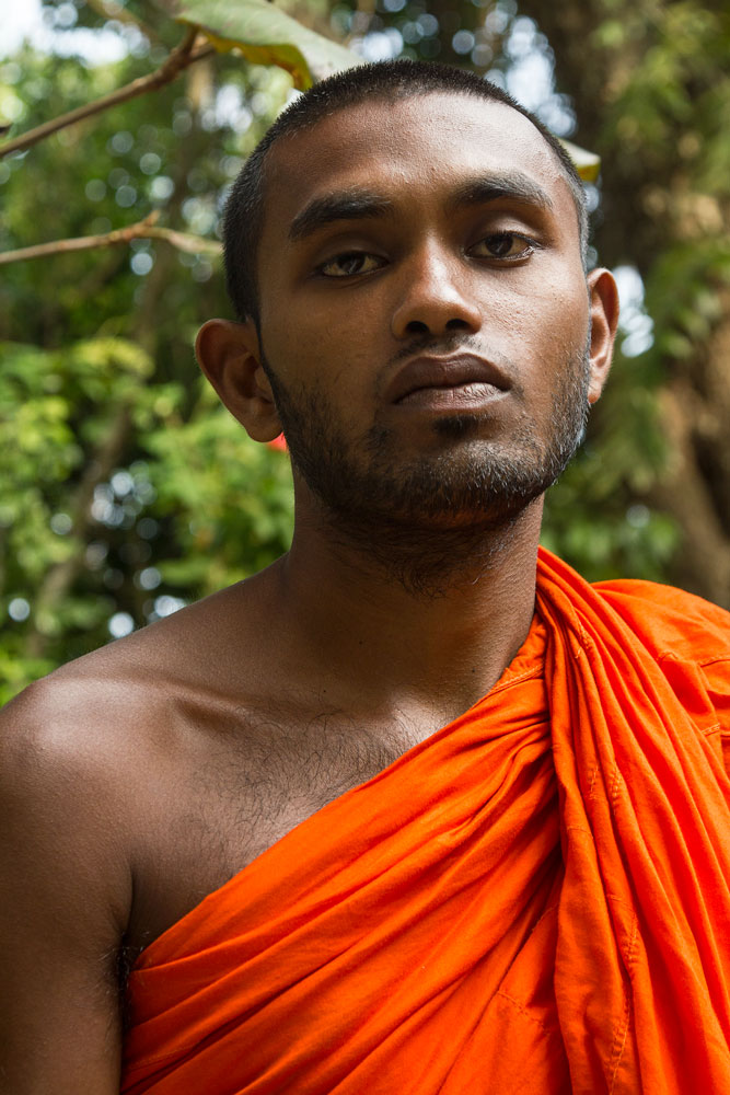 portrait of a novice monk