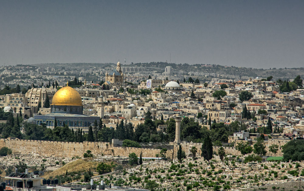 skyline of the old city of jerusalem