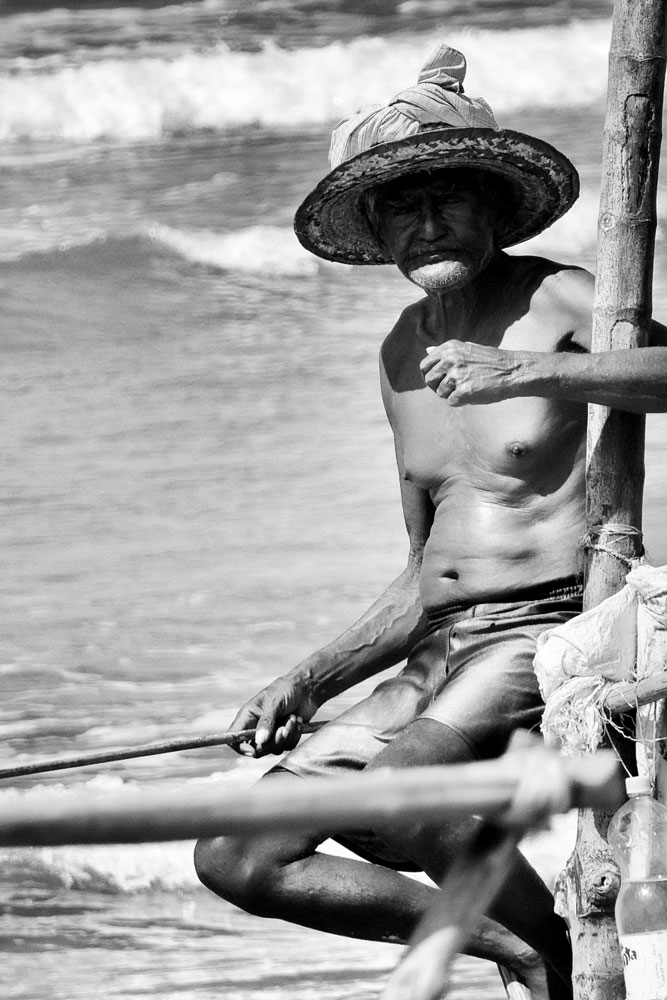 portrait of a Stilt fisherman, Unawatuna