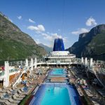 P&O ship Britannia on a Norwegian Fjords Cruise