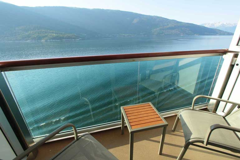 balcony cabin p&o on a norwegian fjords cruise