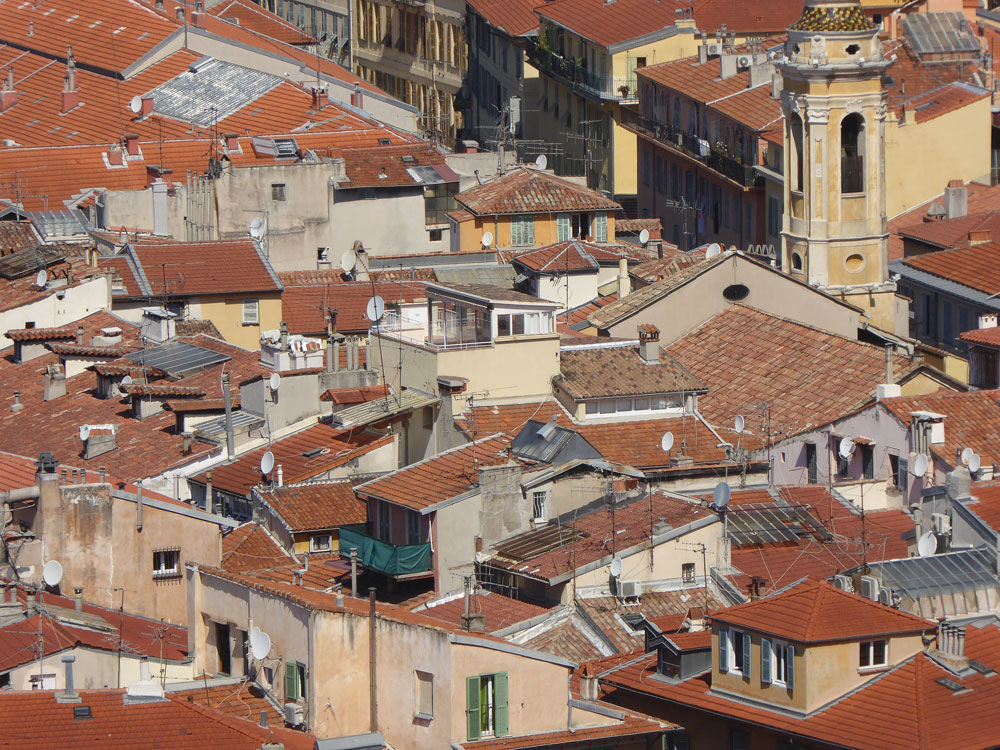 red rooftops of nice france