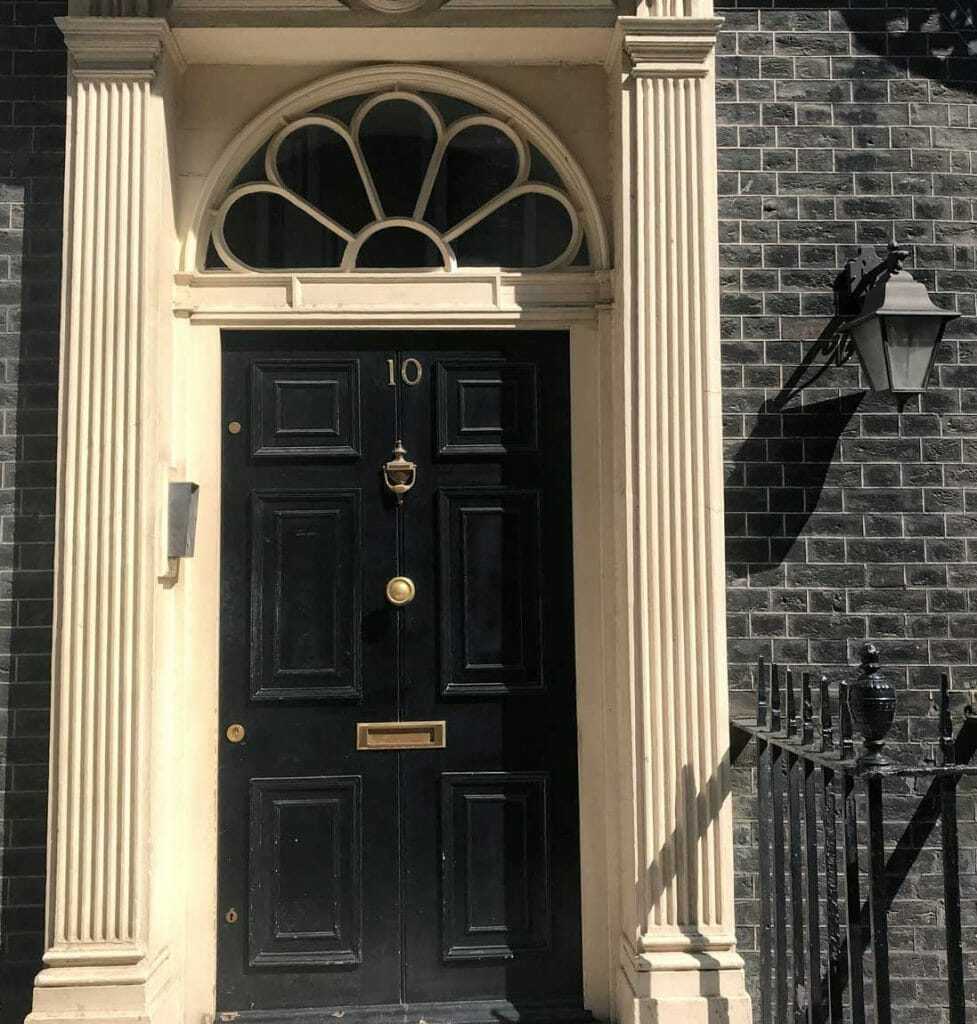10 adam street london doorway