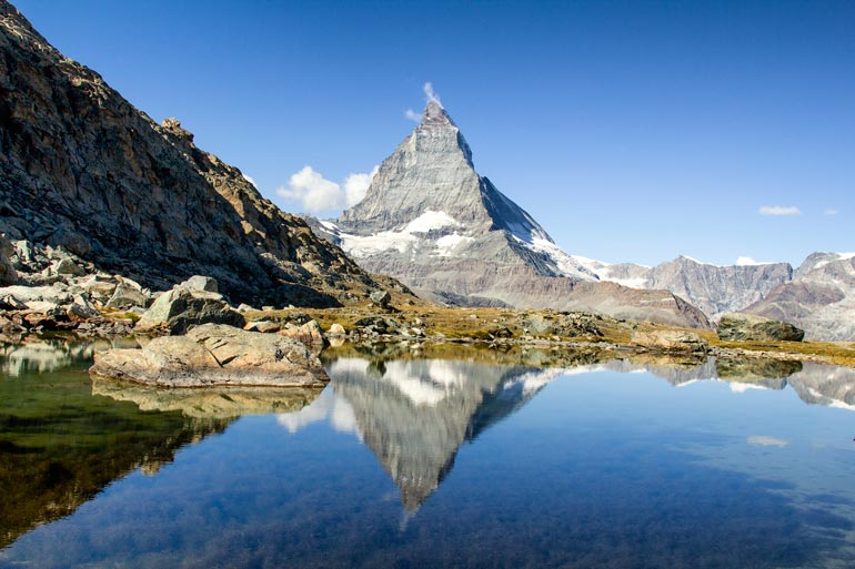 The Matterhorn at Riffelsee