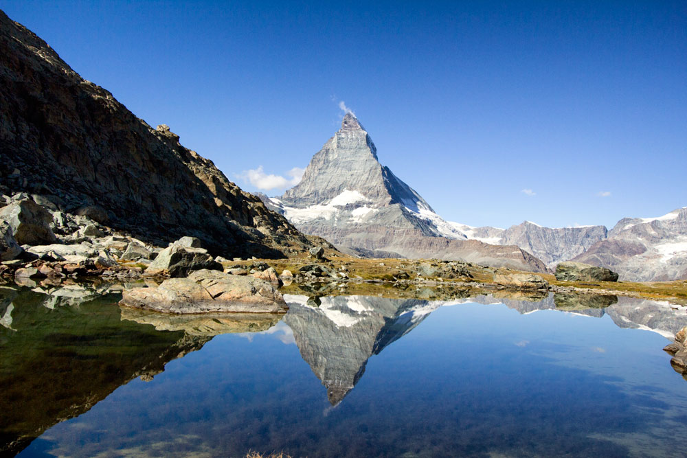 matterhorn-reflected-in-riffelsee IS ONE OF THE Best Things to Do in Zermatt for Non-Skiers