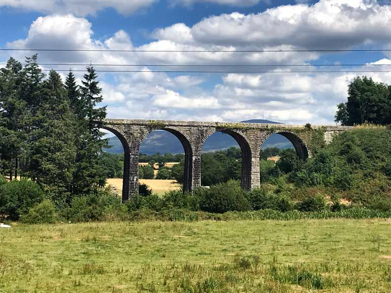 The railway viaduct in Borris Carlow
