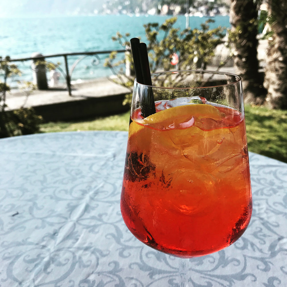 aperol-spritz with straw