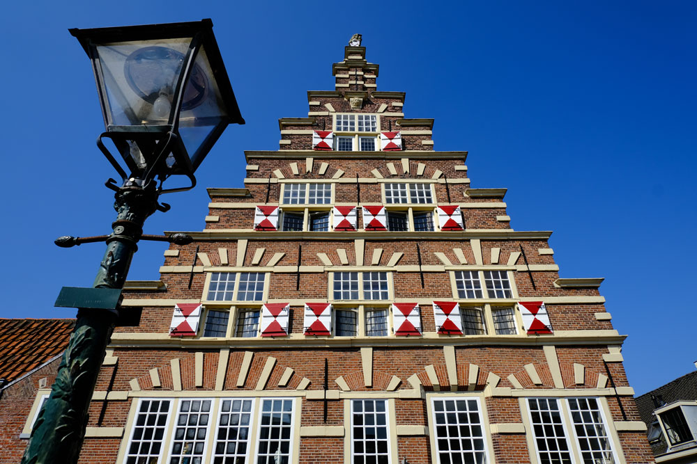 historic house with red gables which is one of the best things to see in Leiden in one day