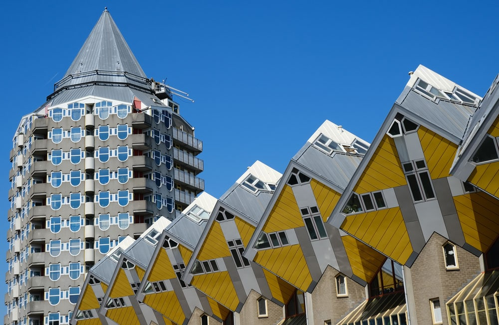 cube-buildings-and-pencil are some of the best things to see in rotterdam in one day