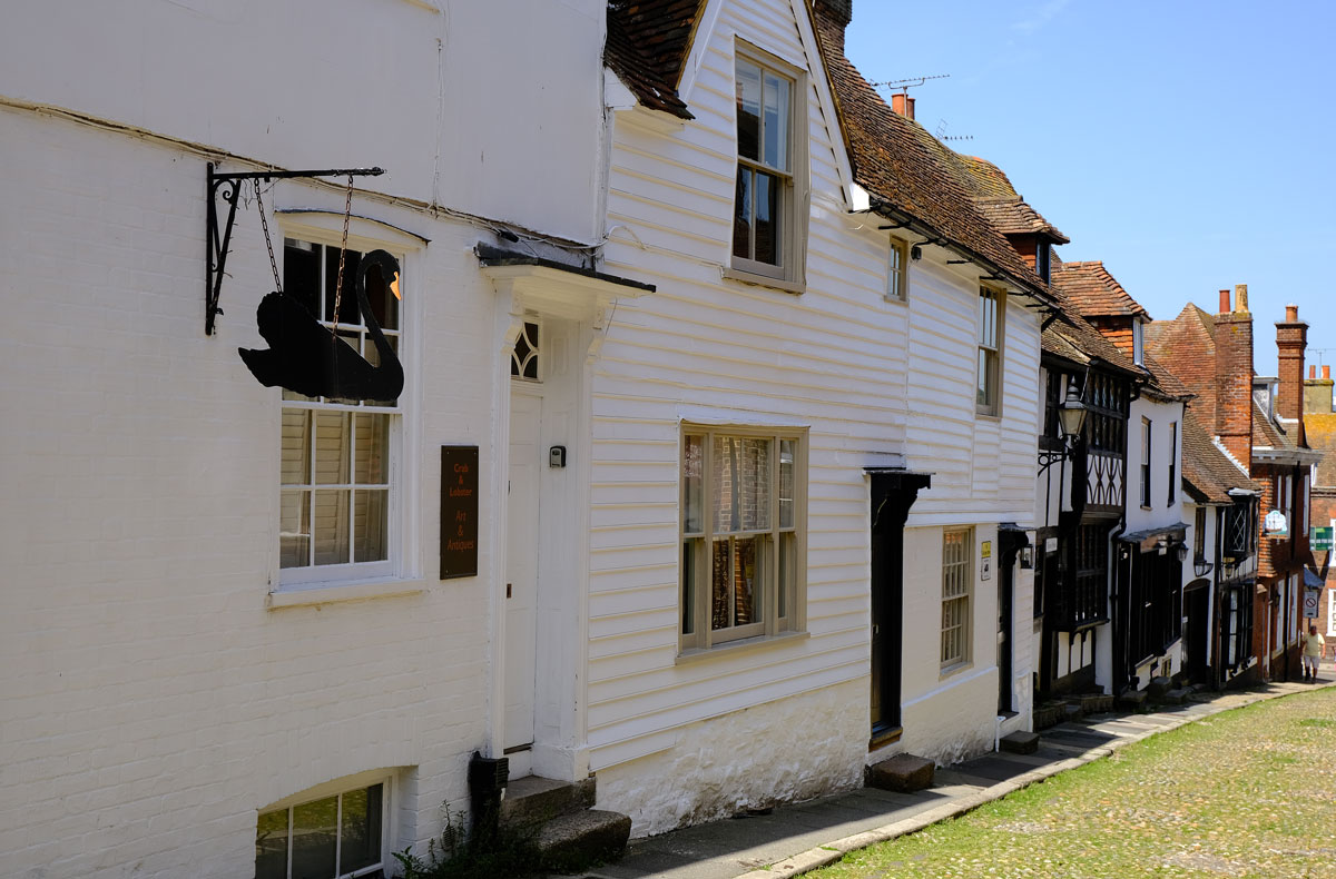 hlaf timbered houses on street in rye