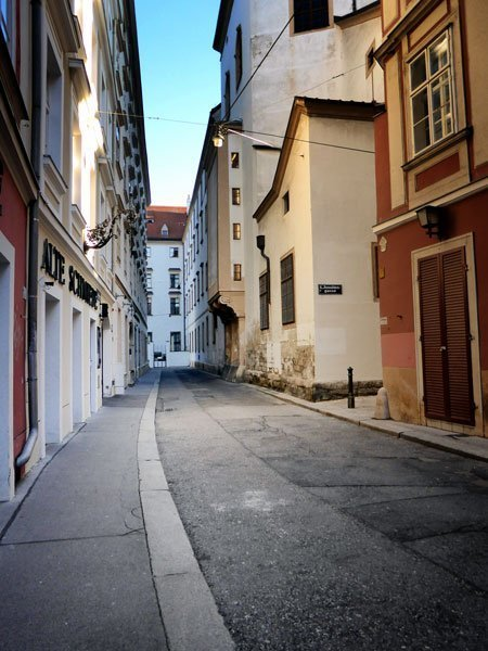 empty street in vienna's-historic-centre
