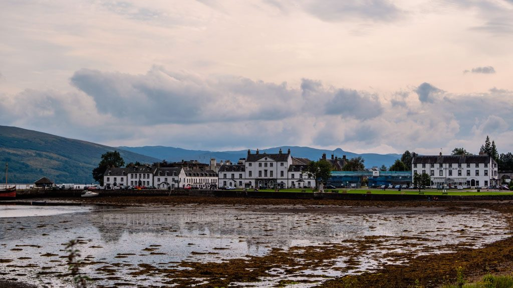 Inveraray scotland at dusk