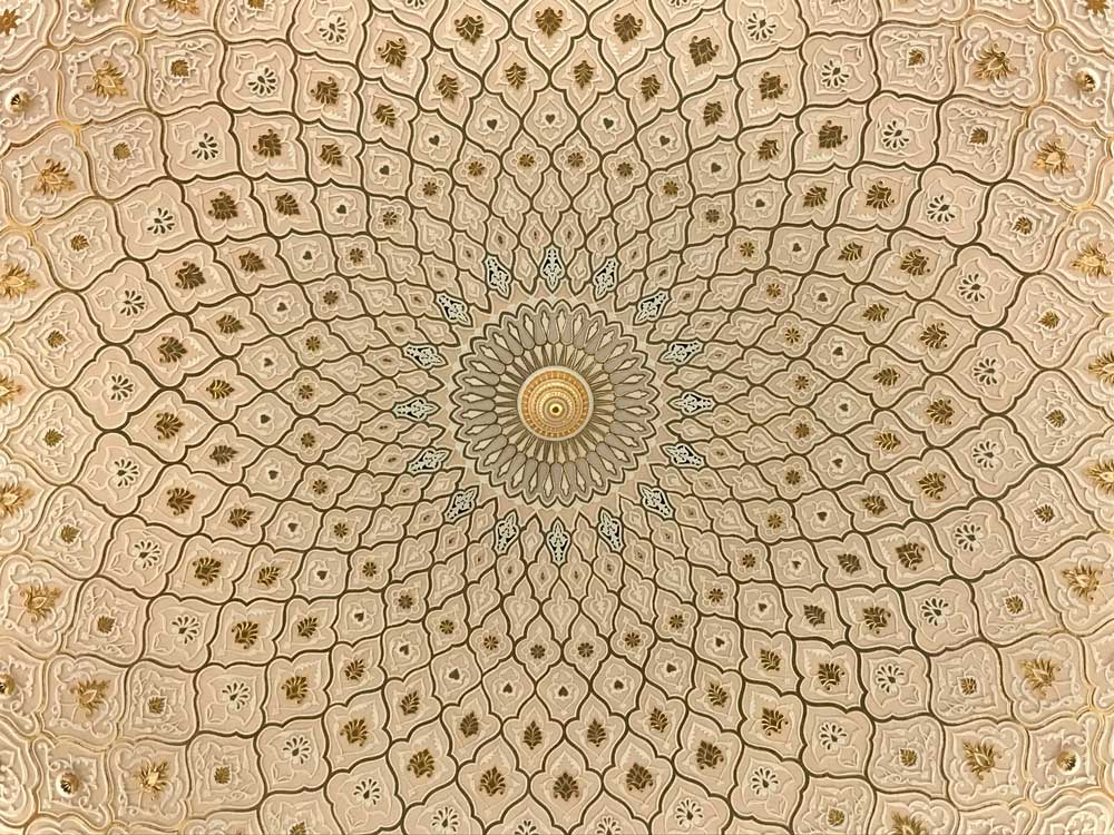 ceiling with islamic art