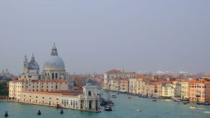 the grand canal in venice which is one of the location used for movies set in italy