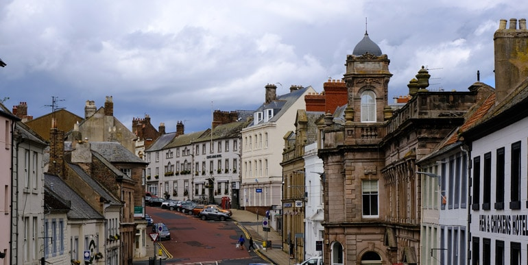 a main street in Berwick upon tweed