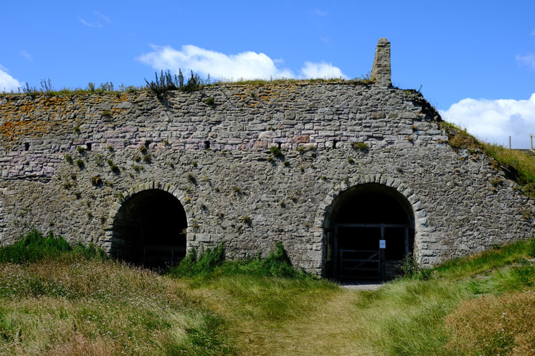 lime kilns on holy island