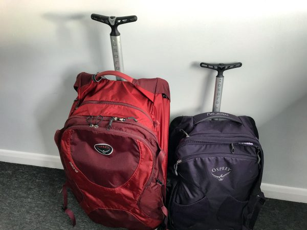 fairview 36 wheels vs ozone 75 in osprey backpacks review