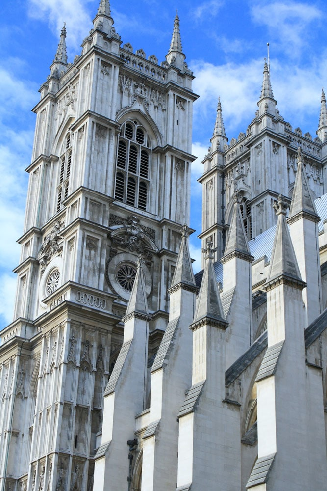 exterior of westminster abbey